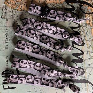 DIY Jack Skellington Hair Tie Bracelets